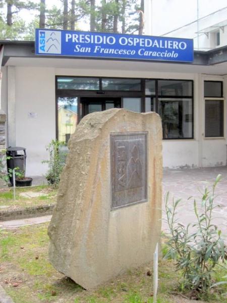 L'ingresso dell'ospedale Caracciolo di Agnone
