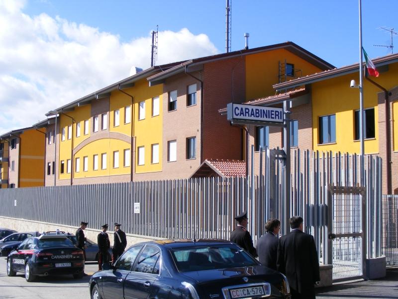 La caserma dei Carabinieri di Agnone