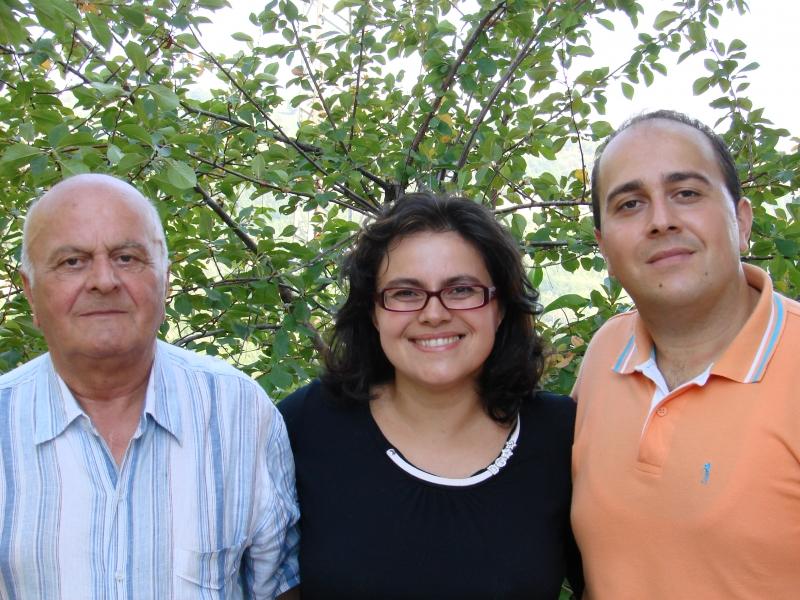 Arduino con i due figli Cristian e Anna Claudia