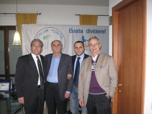 I dirigenti del partito Italia Unita