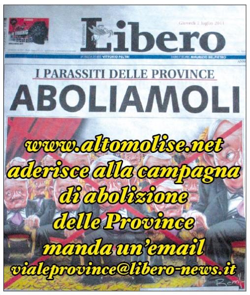 Aderisci anche tu, manda un'email a vialeprovince@libero-news.it