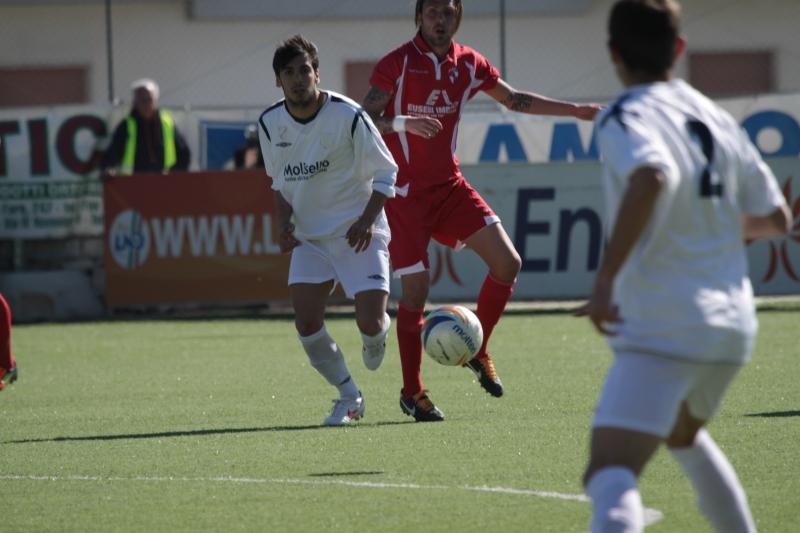 Vincenzo Ricamato autore del gol dell'Agnonese - foto azzi -