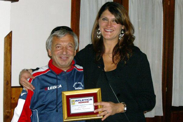 A sinistra Giovanni Labbate, presidente dell'Atletica Agnone