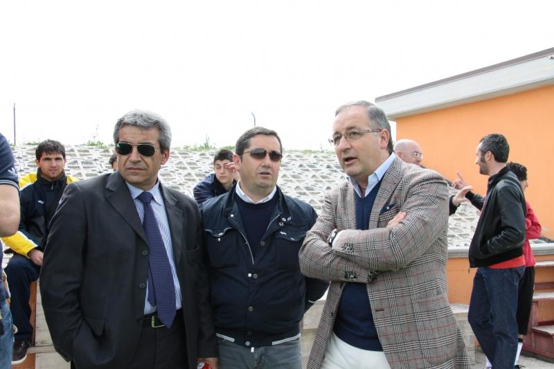 Masciotra con Marcovecchio e Capuzzi - foto archivio -