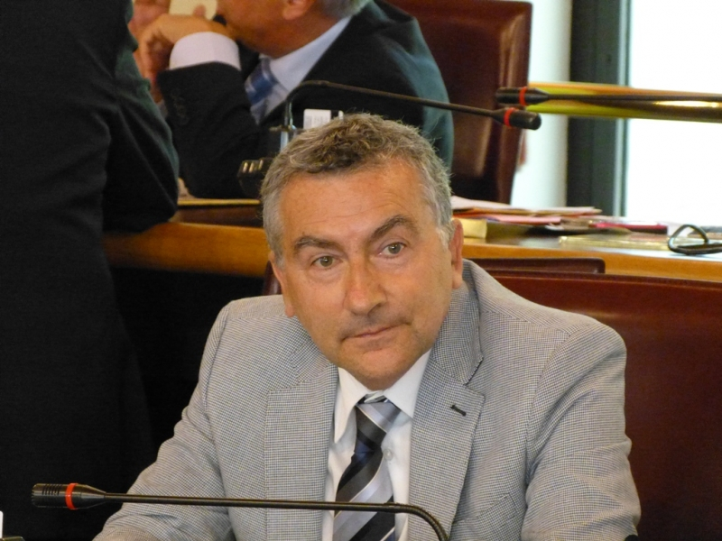 Il consigliere regionale Paolo Palomba (Idv)