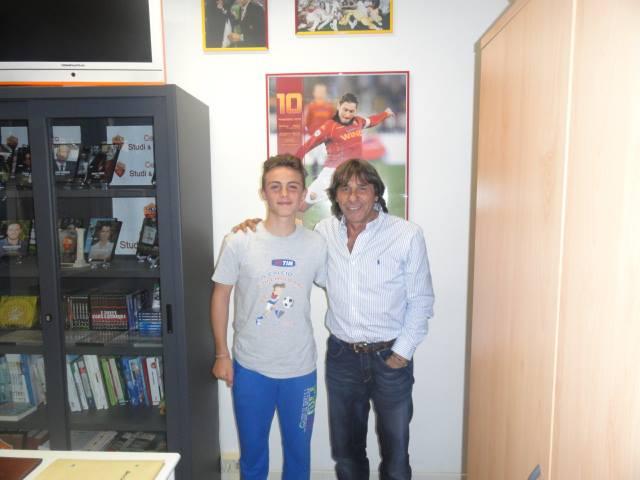 Basilio Antonelli con Bruno Conti