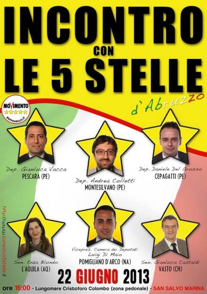 I parlamentari del movimento 5 stelle incontrano i cittadini for Parlamentari 5 stelle elenco