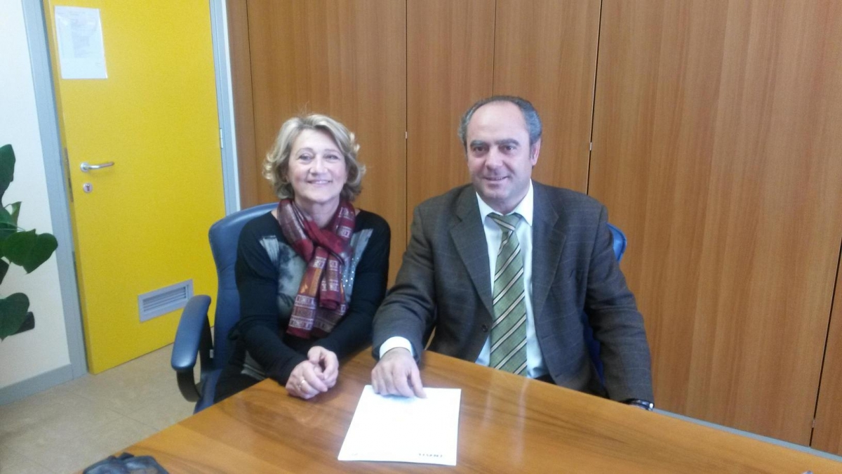 Donatella Perrella con Rocco Mario Del Nero