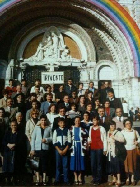 San Giovanni e Trivento in gita a Lourdes, 1970