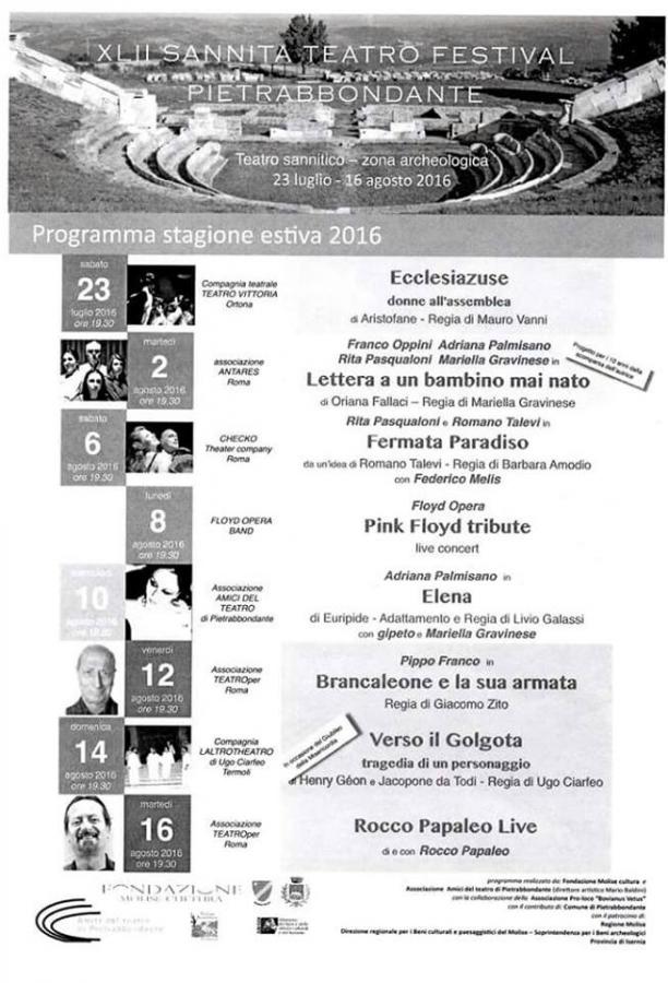 La festa del Grano di Jelsi, in onore di Sant' Anna: Programma